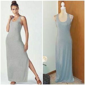NWT Fabletics Iliana Heather Gray Maxi Dress